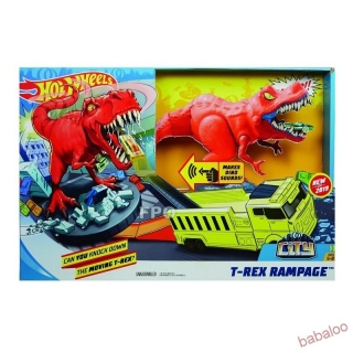 Mattel Hot Wheels city T-Rex útočí