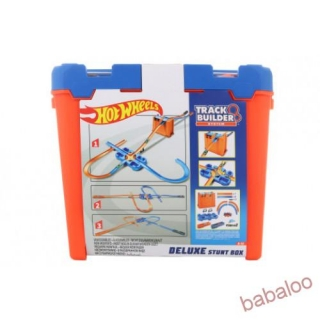 Mattel Hot Wheels  Track builder box plný trikov
