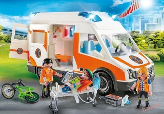 PLAYMOBIL 70049 - Ambulancia so svetlami