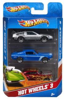Mattel Hot Wheels  Autíčka sada 3ks