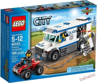 LEGO® CITY 60043 - Väzenský transport