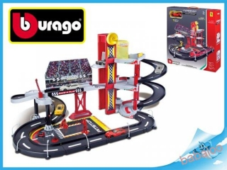 Bburago 1:43 Ferrari Race & Play Racing Garage + 1 auto